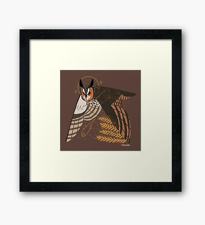 Familiar - Long Eared Owl Framed Print