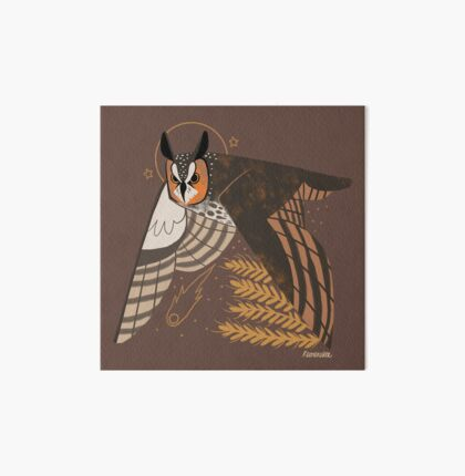Familiar - Long Eared Owl Art Board