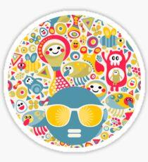 Cute and crazy. Sticker