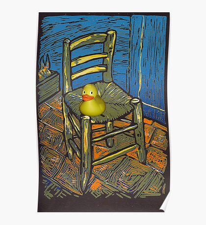 Rubber Duckie for van Gogh Poster