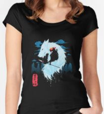 Princess Mononoke Hime Women's Fitted Scoop T-Shirt