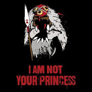 Princess Mononoke I Am Not Your Princess by socorrolecroy