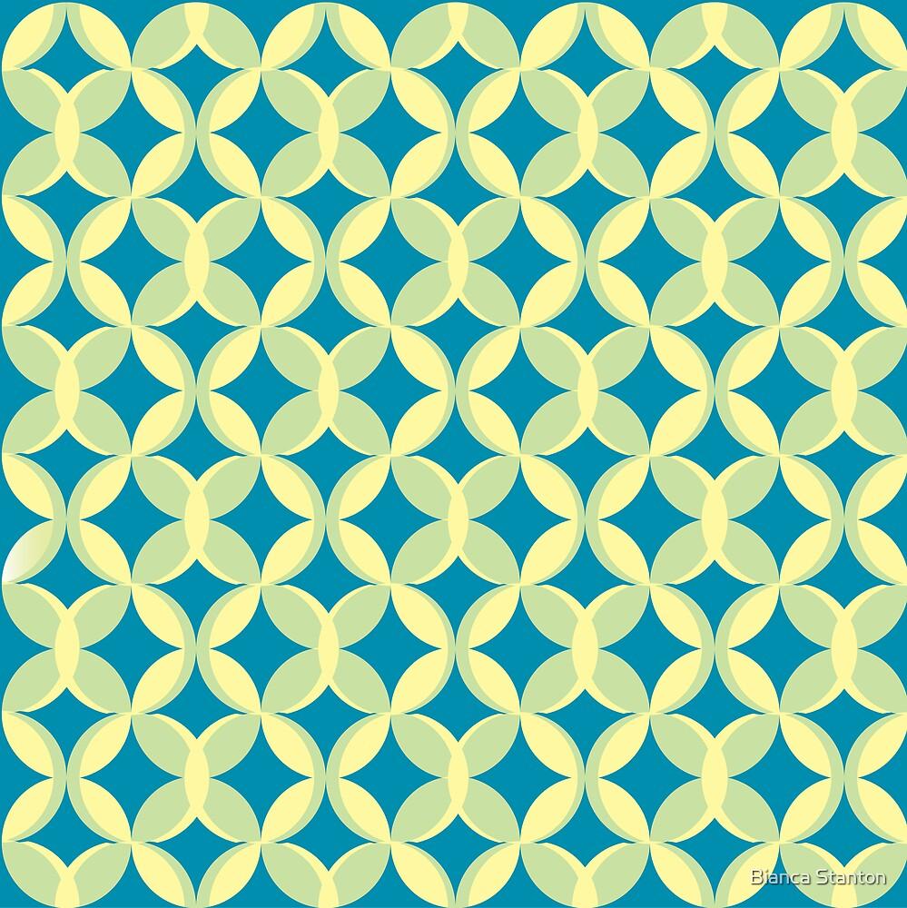 pattern blue by Bianca Stanton