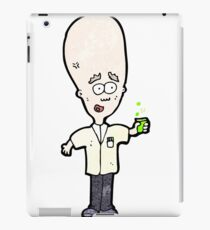 cartoon genius scientist iPad Case/Skin
