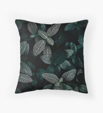 Dark Leaves 3 Throw Pillow