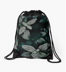 Dark Leaves 3 Drawstring Bag