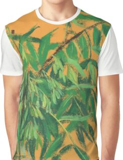 """""""Ash-tree"""", green & yellow, floral art Graphic T-Shirt"""