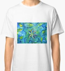 The Fallen One- Story Of A Flower Colorful Abstract Painting Classic T-Shirt