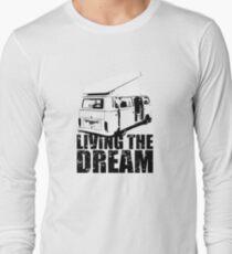 VW Camper Open Roof Living The Dream T-Shirt