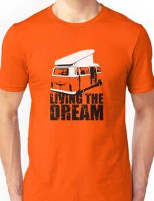 VW Camper Open Roof Living The Dream Unisex T-Shirt
