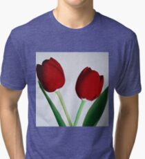 TWO RED TULIPS Tri-blend T-Shirt