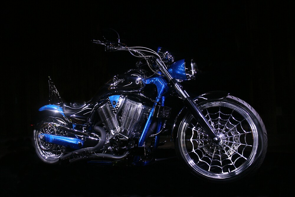 American Ironhorse Motorcycle by Michelle Fontaine