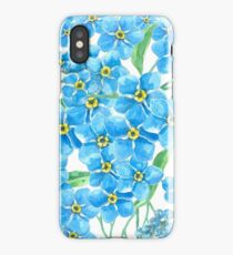 Forget me not seamless pattern iPhone Case/Skin