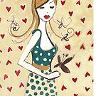 Girl in a Polka Dotted Dress by Anita Ristovski