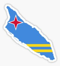 Aruba Flag Map Sticker