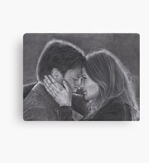 Castle and Beckett - Last battle Canvas Print