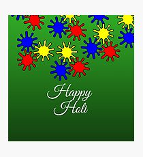 Happy Holi - Colorful Indian Festival Photographic Print