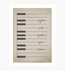 Lámina artística Fix You letras