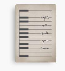 Fix You lyrics Canvas Print