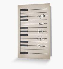 Fix You lyrics Greeting Card