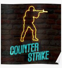 Counter Strike CSGO Neon Sign Poster