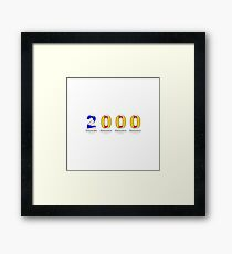My Year of Birth - 2000 Framed Print