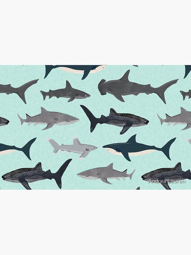 Sharks, illustration, art print ,ocean life,sea life ,animal ,marine biologist ,kids ,boys, gender neutral ,educational ,Andrea Lauren , shark week, shark, great white shark,  by papersparrow