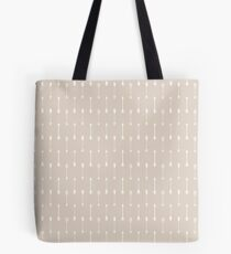 Taupe and White Cultural Arrow Pattern Tote Bag