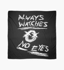 Slenderman Pages - Always Watches No Eyes (White Version) Scarf