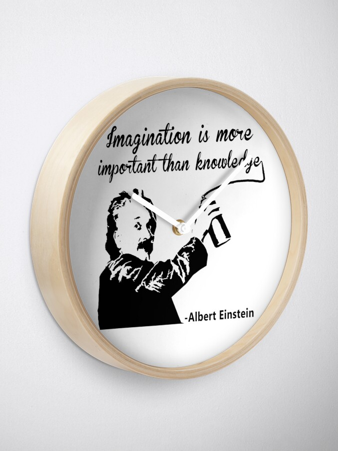Vista alternativa de Reloj Albert Einstein t shirt Imagination is more important than knowledge