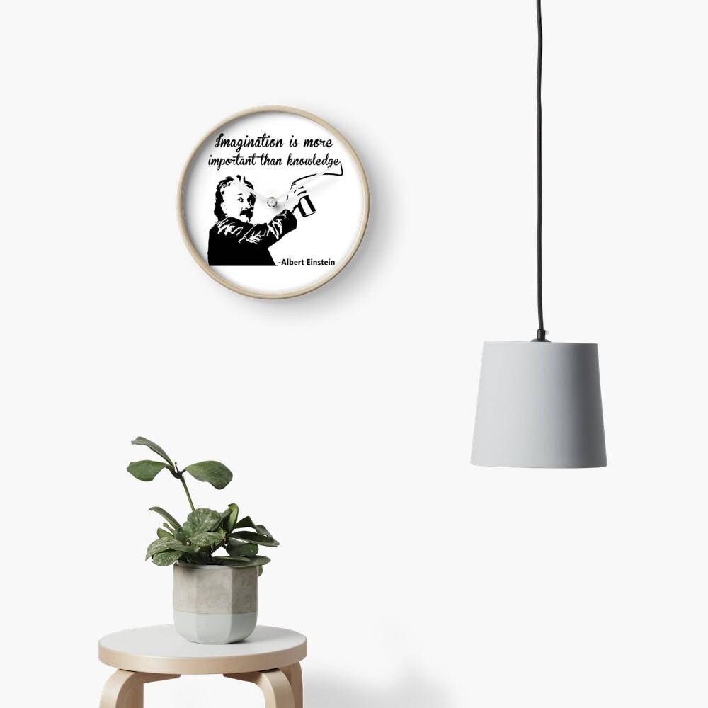 Albert Einstein t shirt Imagination is more important than knowledge Reloj