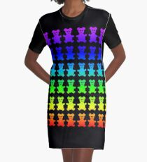 Psychedelic teddy bears. Graphic T-Shirt Dress