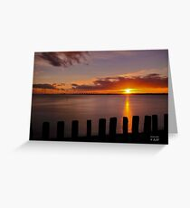 Sunset Schouwen. Greeting Card