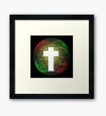 Cross Earth Framed Print