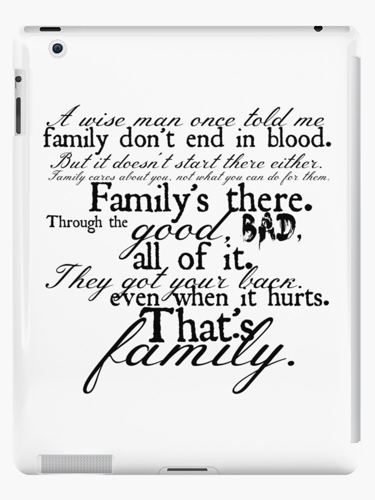 Family Dont End In Blood Ipad Cases Skins By Hannah Johnson