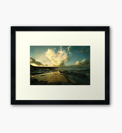 Heart of the Storm- Vintage Edition - Newtrain Bay - Cornwall Framed Print