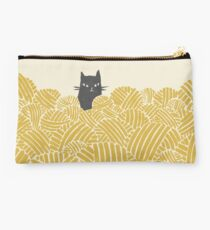 Cat and Wool Yarn Studio Pouch