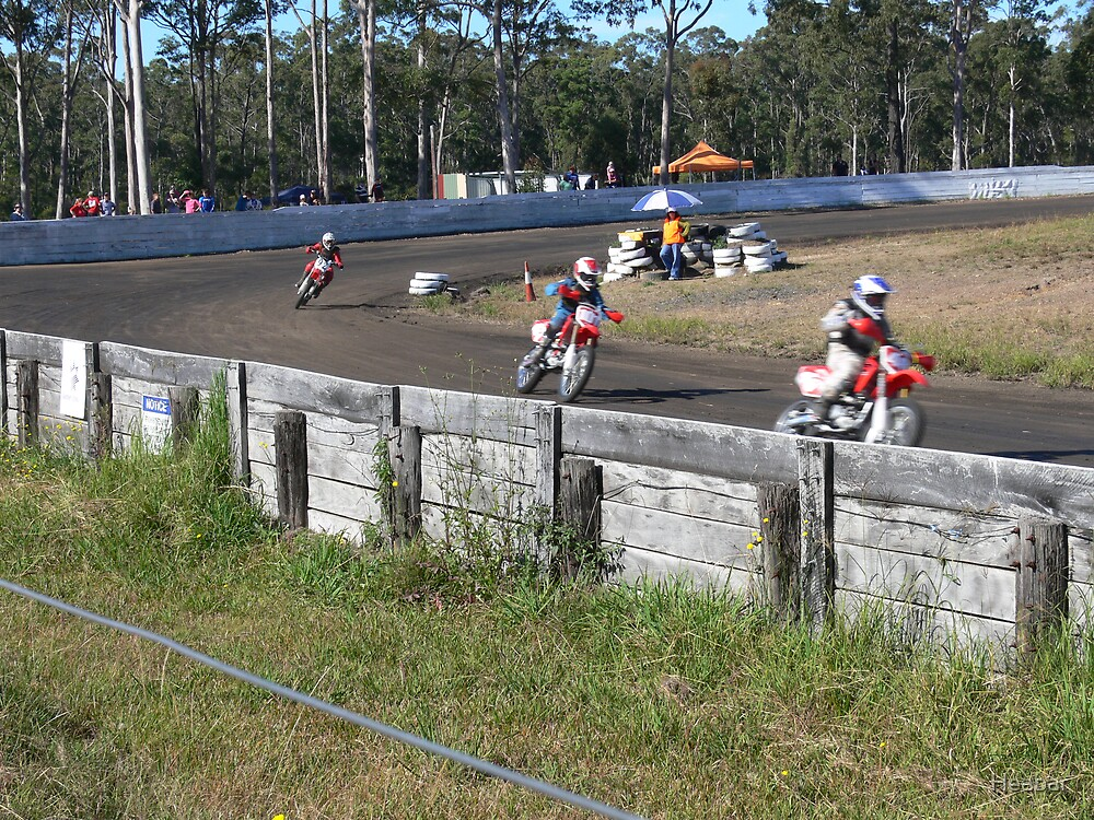 Dirt Track Racing At Old Bar Race Track Taree by Heabar