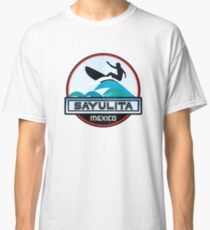 SURFING SAYULITA MEXICO SURF SURFER SURFBOARD BOOGIE BOARD MX Classic T-Shirt