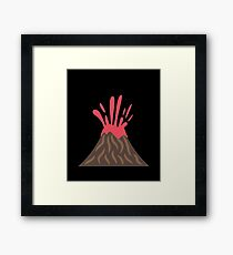 Volcano Eruption , Disaster Framed Print
