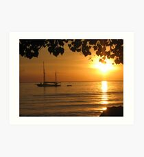 Sunset Lovina Art Print