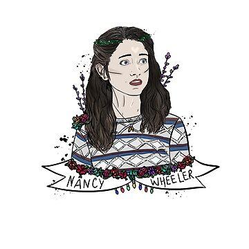 Nancy Wheeler Floral de brendoodle