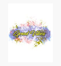 Good Vibes - EDM - Psychedelic Photographic Print
