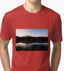 Reflections Lake - Mt Rainier National Park Tri-blend T-Shirt