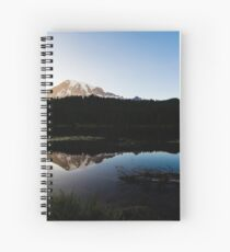 Reflections Lake - Mt Rainier National Park Spiral Notebook