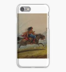 Alfred Jacob Miller (American, ) An Indian Girl (Sioux) on Horseback iPhone Case/Skin