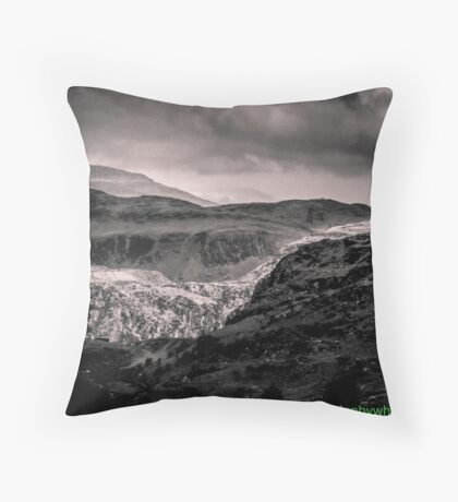 View of Snowdonia 2 bywhacky Throw Pillow