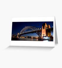 Bridge by Night Greeting Card