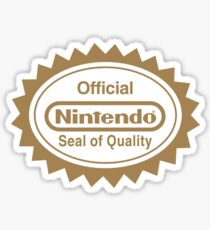 OFFICIAL NINTENDO SEAL OF QUALITY Sticker