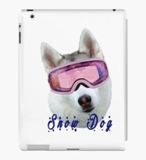 Snow Dog with Goggles iPad Case/Skin